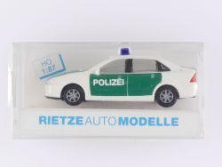 Rietze 50990 Ford Focus Stufenheck Polizei Modellauto 1:87 OVP