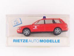 Rietze 50798 Audi A4 B5 Avant Werksfeuerwehr EKO Stahl 1:87 OVP