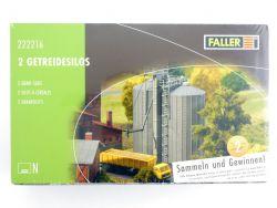 Faller 222216 2x Getreidesilos Modellbahn Bausatz Spur N NEU OVP