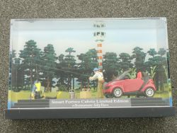 Busch 46173 Smart Fortwo Cabrio Sommer-Idylle Diorama Angler OVP