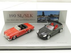 Minichamps Mercedes MB 190 SL 1955 SLK 2005 Dealer 1:43 tlw. OVP