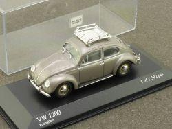 Minichamps 430 052105 VW 1200 Käfer Beetle Silber 1:43 tlw. OVP