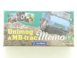 GeraMond Das Knifflige Unimog Memory MB-trac 40 Teile NEU OVP