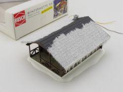 Busch 1085 Winterhütte Holzhaus Beleuchtung Fertigmodell H0 OVP