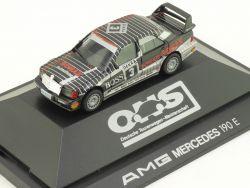 Herpa 035576 AMG Mercedes 190 E DTM Sonax Ludwig Vitrine OVP
