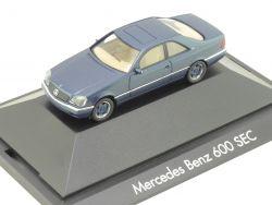 Herpa 100526 Mercedes-Benz 600 SEC W 140 PC Vitrine OVP