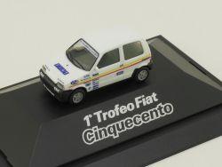 Herpa 100540 I Fiat Cinquecento 1 Trofeo Vitrine PC NEU OVP