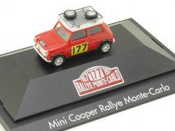 Herpa 181037 Mini Cooper Rallye Monte-Carlo 177 Vitrine NEU! OVP
