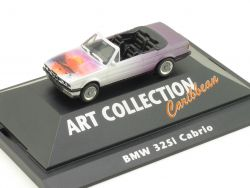 Herpa 045001 BMW 325i E30 Cabrio Art Collection Caribbean PC OVP