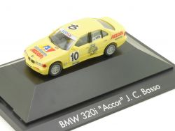 Herpa 088008 F BMW 320i E36 Accor J.C. Basso PC Vitrine  OVP