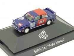 Herpa 035774 BMW M3 E30 Auto Maass DTM 1993 Vitrine 1:87  OVP