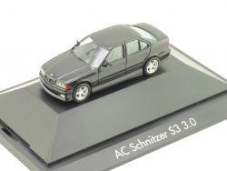 Herpa 100984 BMW AC Schnitzer S3 3.0 E36 Schwarz Vitrine OVP