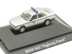 Herpa 181402 BMW M5 Highway Patrol Polizei Police USA NEU OVP