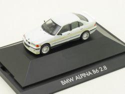Herpa 100274 BMW Alpina B6 2.8 E36 Weiss Modellauto Vitrine  OVP