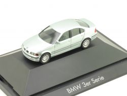 Herpa 101134 BMW 3er E46 Limousine Glaciergrün Modellauto PC OVP