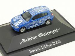 Herpa 0857 BMW 125i E87 Schöne Maienzeit 2005 Bayern Edition OVP