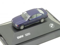 Herpa 82229417851 BMW 325i E36 Coupe Werbemodell Blau PC OVP ST