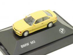 Herpa 82229417308 BMW M3 E36 Coupe Gelb Werbemodell OVP