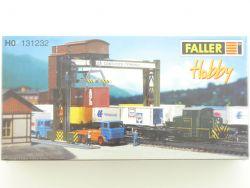 Faller 131232 Containerbrücke Verladung H0 Bausatz Folie NEU OVP