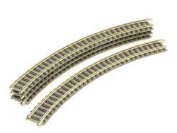 Fleischmann 9120 Piccolo 4x Gebogendes Gleis R1 192mm Spur N