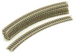 Fleischmann 9125 7x Gebogenes Gleis R2 225,6 mm