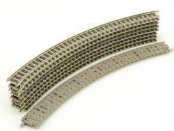 Fleischmann 9125 8x Gebogenes Gleis R2 225,6 Spur N