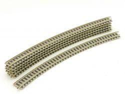 Fleischmann 9135 6x Gebogenes Gleis R4 430mm helleres Design
