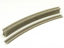 Fleischmann 9135 6x Gebogenes Gleis R4 430mm dunkles Design ST