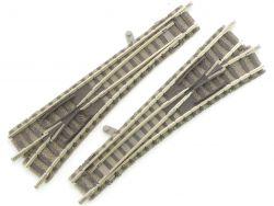 Fleischmann 9170 9171 2x Weiche links rechts Paar Piccolo TOP OVP