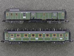 Minitrix 2x Schnellzug-Personenwagen 13717 13715 TOP!
