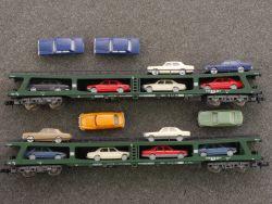 Fleischmann 2x 8285 Doppelstockwagen Autotransporter PKW DB