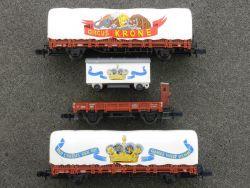 Arnold 3 Wagen Set 0152 Circus Krone Zirkuswagen Spur N