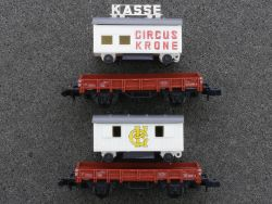 Arnold 2x Zirkuswagen aus Set 0152 Circus Krone Kasse lesen!