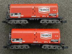 Minitrix 2x 13592 Heizöl-Kesselwagen Texaco Tankwagen TOP