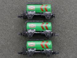 Minitrix 3x Kesselwagen Tankwagen Texaco 000 1 361-3 SW N
