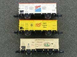 Minitrix 3x Güterwagen DRG Bayern Maggi 13610 Libby´s 13602
