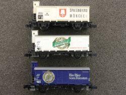 3x Bierwagen Arnold Spatenbräu 0427 Groterjan Patzenhofer Zug