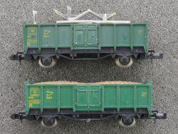 Fleischmann 2x 2457 S Güterwagen O-Wagen Hochbordwagen SNCB