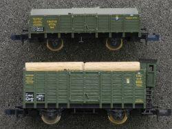 Minitrix 2x Güterwagen 13236 13203 KBayStsB Viehwagen Bayern