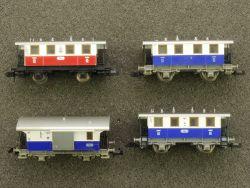 Fleischmann 4x Wagen Zahnradbahn PZB ELB 8056 8054 8053