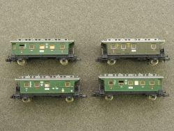 Fleischmann 4x Personenwagen 8065 8066 8765 Innenbeleuchtung
