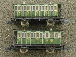 Minitrix 2x Personenwagen 13064 Länderbahn KBayStsB lesen