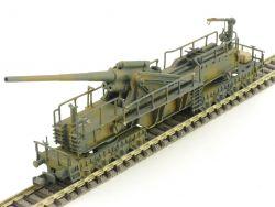 Handarbeitsmodell Eisenbahn-Geschütz WW2 überw. Metall Marks?