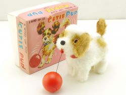 Alps 2681 Cutie Pup Dog Wind Up Toy Cocker Spaniel Japan MIB OVP