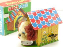 MM Japan 589 Happy Doggie Uhrwerk Wind Up Dog Tin Toy N MIB OVP