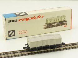 Arnold 0421 Rapido Klappdeckelwagen DB 1966-1974 seltene OVP