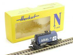 Herkat 1401 Kesselwagen Schienenreinigungswagen Aral Spur N  OVP