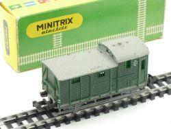 Minitrix 3254 Güterzug-Begleitwagen DB Karton 1965-1968 OVP
