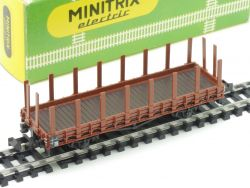 Minitrix 3235 Rungenwagen DB Karton 1965-1968 TOP! OVP