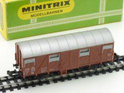 Minitrix 3239 gedeckter Güterwagen Karton 1965-1968 OVP